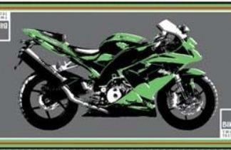 Garasje/Miljø matte med Kawasaki bilde-0