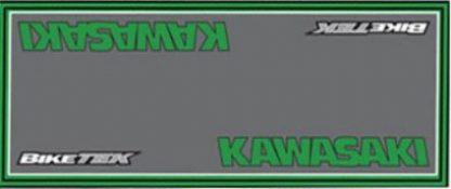 Garasje/Miljø -matte med Kawasaki logo-0